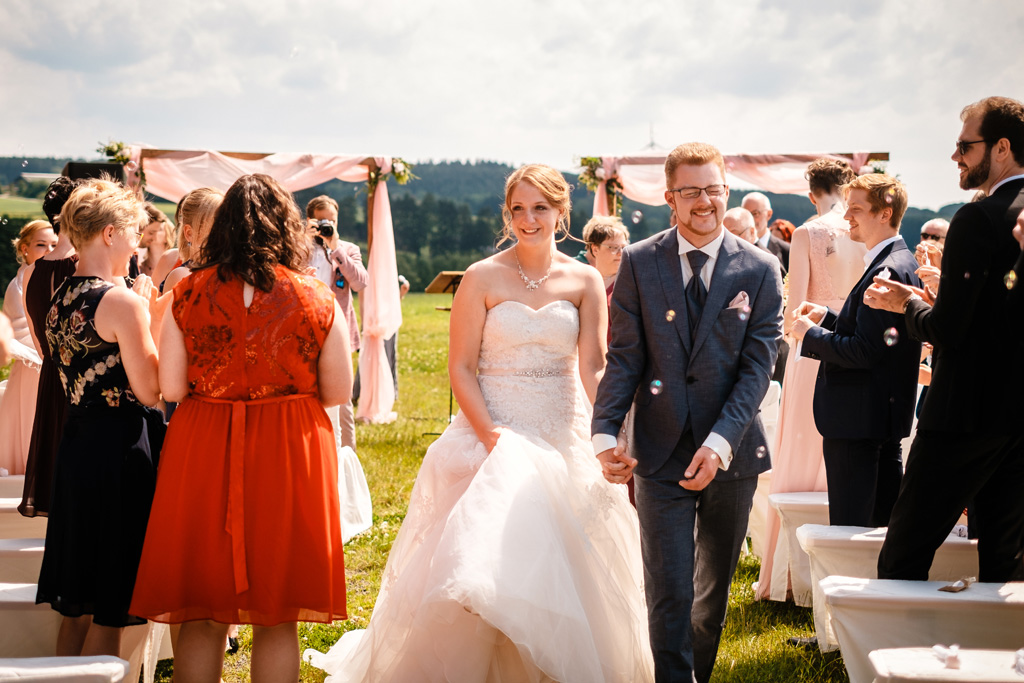 Auszug des Brautpaars