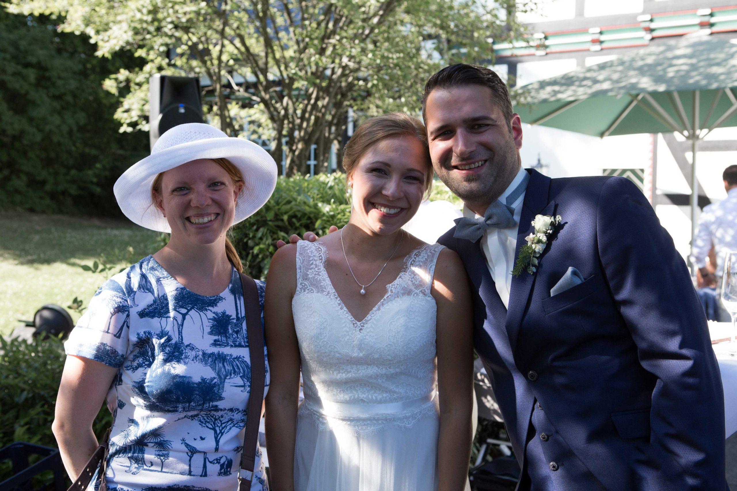 Das Brautpaar und ich
